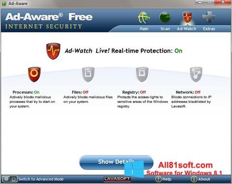 Ekraanipilt Ad-Aware Windows 8.1