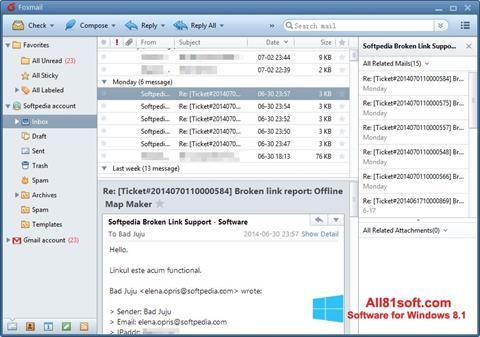Ekraanipilt FoxMail Windows 8.1