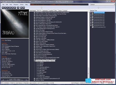 Ekraanipilt Foobar2000 Windows 8.1