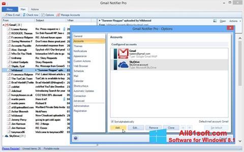 Ekraanipilt Gmail Notifier Windows 8.1