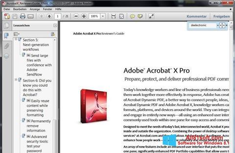Ekraanipilt Adobe Reader Windows 8.1