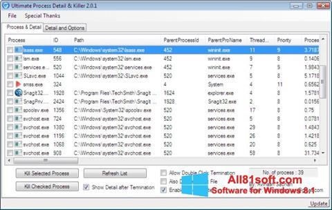 Ekraanipilt Process Killer Windows 8.1