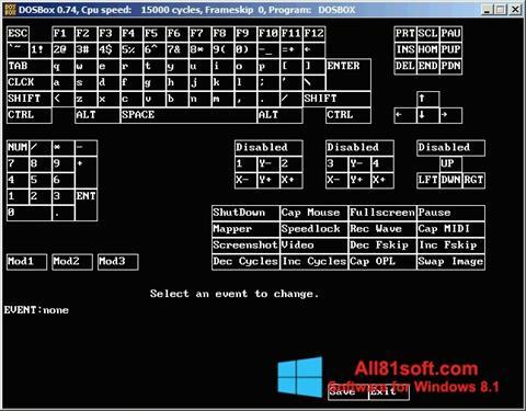 Ekraanipilt DOSBox Windows 8.1