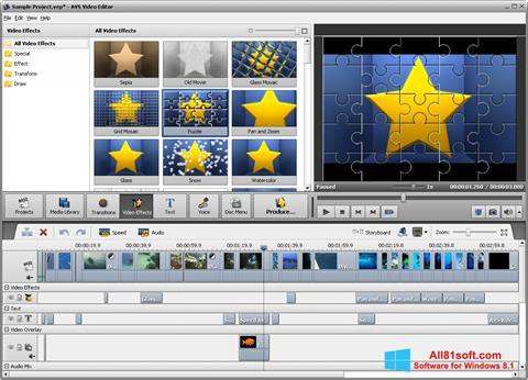 Ekraanipilt AVS Video Editor Windows 8.1