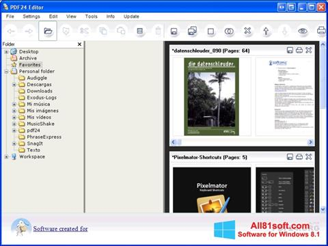 Ekraanipilt PDF24 Creator Windows 8.1