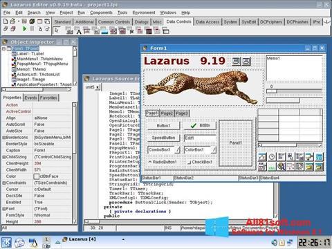 Ekraanipilt Lazarus Windows 8.1