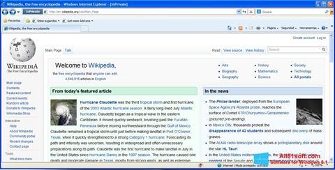 Ekraanipilt Internet Explorer Windows 8.1