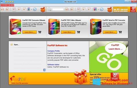 Ekraanipilt Doc Reader Windows 8.1