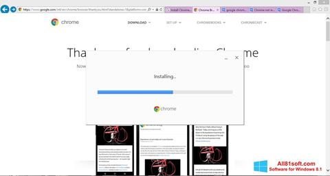 Ekraanipilt Google Chrome Offline Installer Windows 8.1