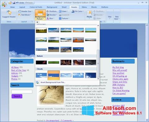 Ekraanipilt Artisteer Windows 8.1