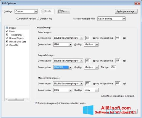 Ekraanipilt Adobe Acrobat Pro DC Windows 8.1