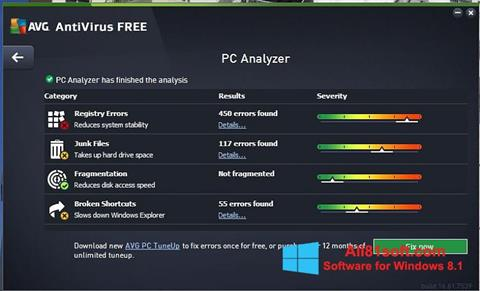 Ekraanipilt AVG AntiVirus Free Windows 8.1