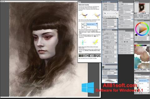 Ekraanipilt Corel Painter Windows 8.1