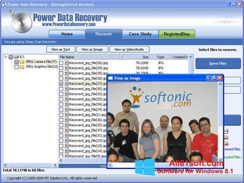 Ekraanipilt Power Data Recovery Windows 8.1