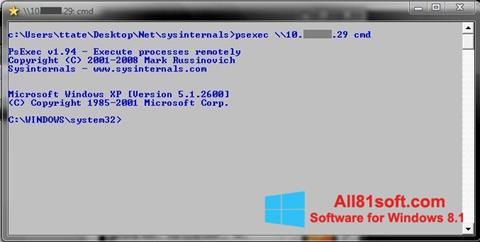 Ekraanipilt PsExec Windows 8.1