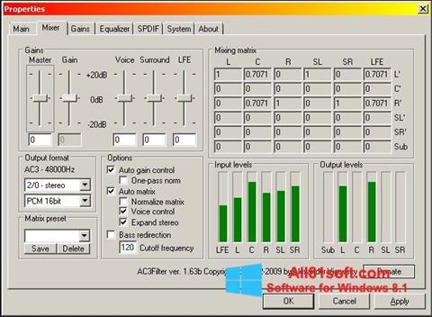Ekraanipilt AC3 Codec Windows 8.1