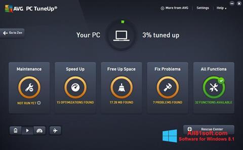 Ekraanipilt AVG PC Tuneup Windows 8.1