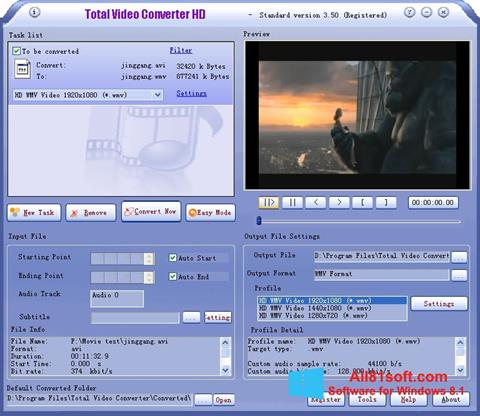 Ekraanipilt Total Video Converter Windows 8.1