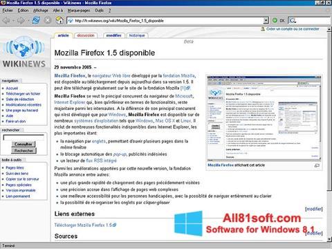 Ekraanipilt Mozilla Firefox Windows 8.1