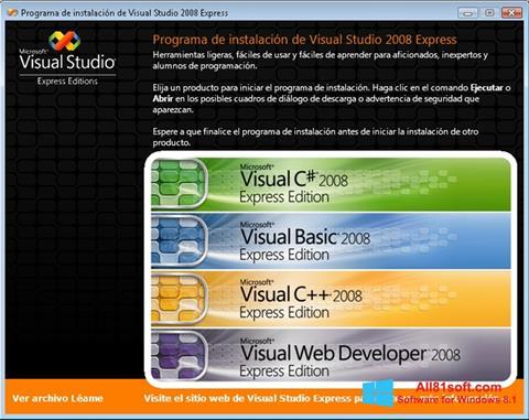 Ekraanipilt Microsoft Visual Studio Windows 8.1