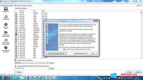 Ekraanipilt BadCopy Pro Windows 8.1