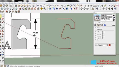Ekraanipilt SketchUp Windows 8.1
