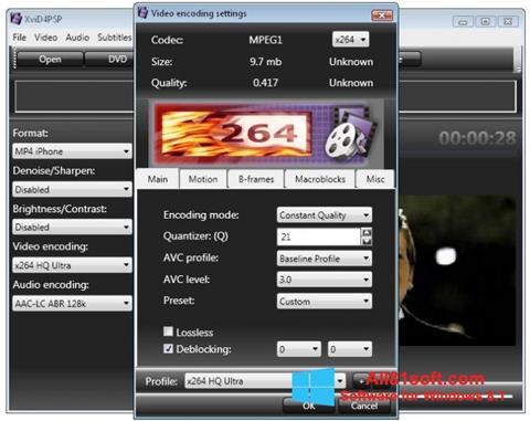 Ekraanipilt XviD4PSP Windows 8.1