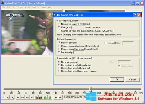 Ekraanipilt VirtualDubMod Windows 8.1