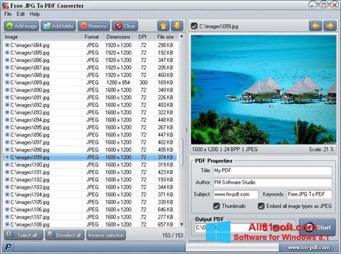 Ekraanipilt JPG to PDF Converter Windows 8.1