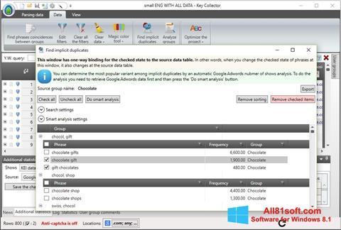 Ekraanipilt Key Collector Windows 8.1