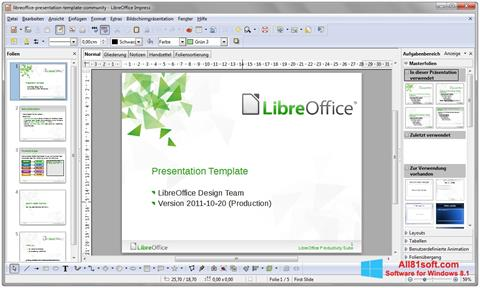 Ekraanipilt LibreOffice Windows 8.1