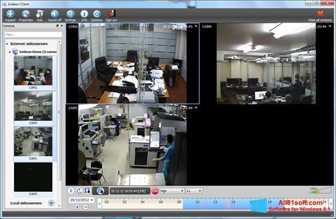 Ekraanipilt Ivideon Server Windows 8.1