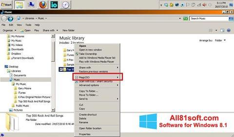 Ekraanipilt MagicISO Windows 8.1