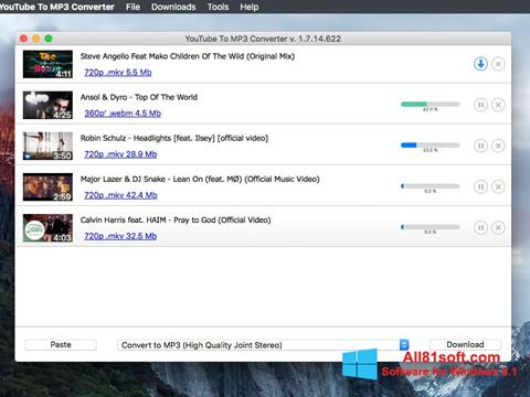 Ekraanipilt Free YouTube to MP3 Converter Windows 8.1