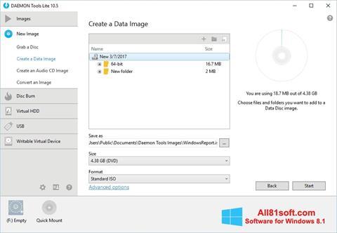 Ekraanipilt DAEMON Tools Lite Windows 8.1