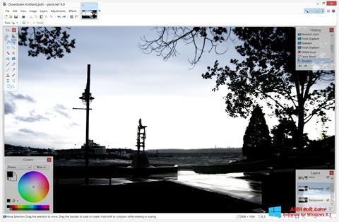 Ekraanipilt Paint.NET Windows 8.1