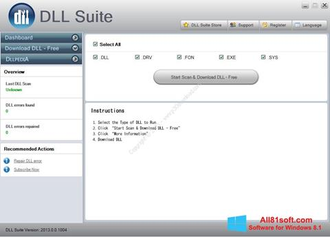 Ekraanipilt DLL Suite Windows 8.1