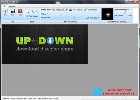 Ekraanipilt SmartDeblur Windows 8.1