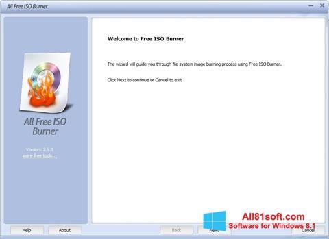 Ekraanipilt ISO Burner Windows 8.1