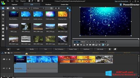 Ekraanipilt CyberLink PowerDirector Windows 8.1