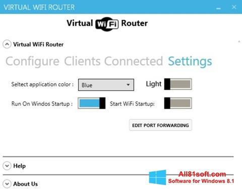 Ekraanipilt Virtual WiFi Router Windows 8.1