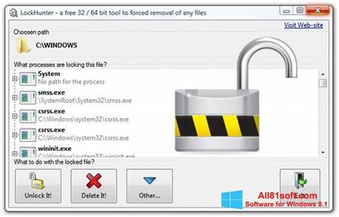 Ekraanipilt LockHunter Windows 8.1