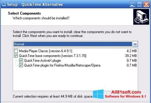 Ekraanipilt QuickTime Alternative Windows 8.1