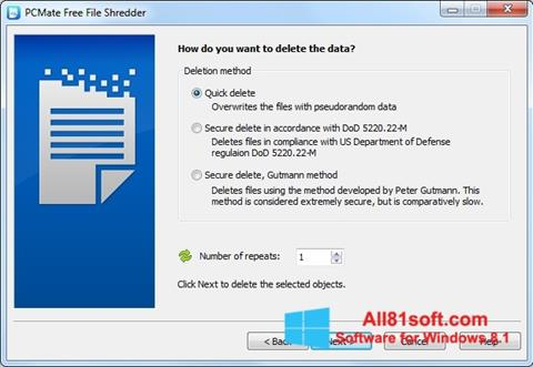Ekraanipilt File Shredder Windows 8.1