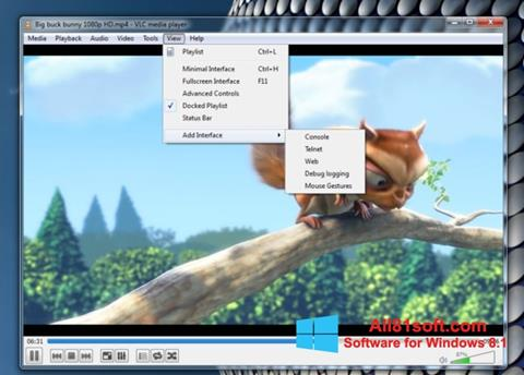 Ekraanipilt VLC Media Player Windows 8.1