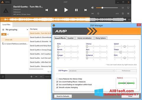 Ekraanipilt AIMP Windows 8.1