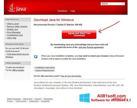 Ekraanipilt Java Windows 8.1