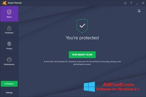 Ekraanipilt Avast Premier Windows 8.1
