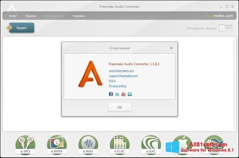 Ekraanipilt Freemake Audio Converter Windows 8.1
