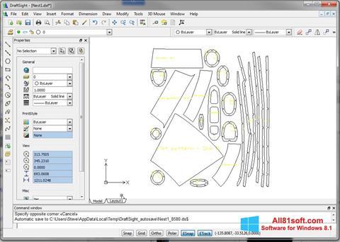 Ekraanipilt DraftSight Windows 8.1
